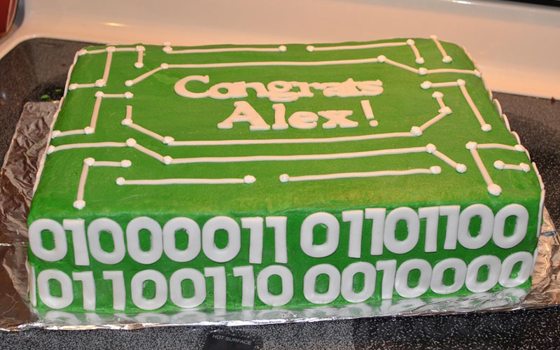 binary code engineer cake network cakes