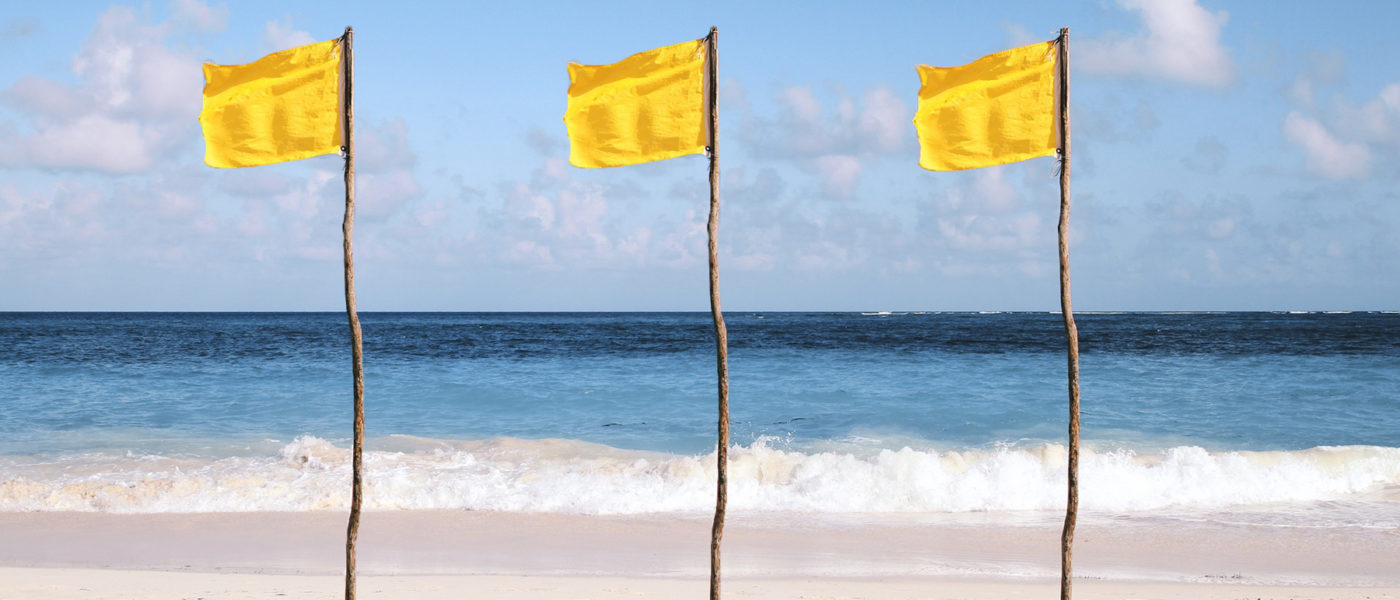 minor network alerts warning yellow flags
